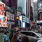 NEW YORK, USA - 9 of October 2017: Broadway Times Square, with a